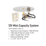 12v Mini Capacity Electronic Ignition System Specs - The Outdoor Plus