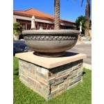 Concrete Fire Bowl Roman - Sage with Black Wash