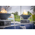 "31"" Cazo Fire and Water Bowl - Gray"
