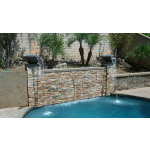 """24"""" Cazo Fire and Water Pool Fire Pit Waterfall - Ash"""