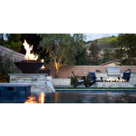 "24"" Cazo Concrete Fire Bowls - Black"