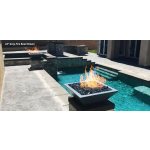 "24"" Maya Concrete Gas Fire Bowls - Gray"