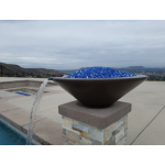 """31"""" Cazo Fire and Water Bowl - Chocolate"""