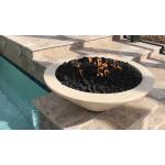 """31"""" Cazo Concrete Fire Bowl - Vanilla"""