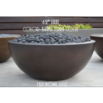 "42"" Luxe Fire Bowl - Burnt Terra Cotta"