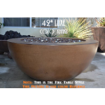 "42"" Luxe Fire Bowl Table Style - Khaki"