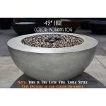 "42"" Luxe Fire Bowl Table Style - Morning Fog 
