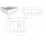 """42"""" Quad Square Fire Pit Table Spec Sheet"""