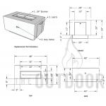 """48"""" Catalina Wood Grain Concrete Fire Pit Table Spec Sheet"""