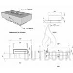 "48"" Del Mar Fire Pit Table Spec Sheet"