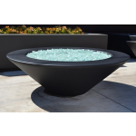 "48"" Essex GFRC Concrete Fire Table - Black"