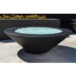 """48"""" Essex GFRC Concrete Fire Table - Black - 8"""" Tabletop Surface"""