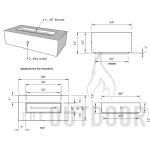 "48"" Regal Fire Pit Table Spec Sheet"