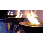 "(3) 30"" Cazo 4-Way Fire & Water Bowl Close Side"