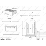 "56"" Cabo Linear Concrete Fire Table Specs"
