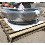 "60"" Concrete Fire Bowl on Crate - Charcoal"
