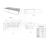 "48"" Coronado Wood Grain Concrete Fire Pit Table Spec Sheet"