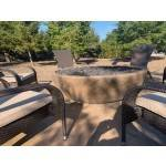 "60"" Sedona Concrete Fire Bowl - Rustic Coffee"
