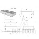 "72"" Del Mar Fire Pit Table Spec Sheet"