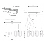 "84"" Del Mar Fire Pit Table Spec Sheet"