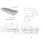 "96"" Del Mar Fire Pit Table Spec Sheet"