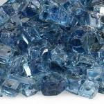 "1/2"" Pacific Blue Reflective Fire Glass"