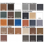 GFRC Concrete Color Finish Samples