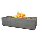 """55"""" x 30"""" x 16"""" Aspen GFRC Concrete Fire Table - Rain Cloud"""