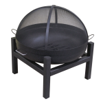 """24"""" Steel Wood Fire Pit with Lift Off Fire Pit Screen"""