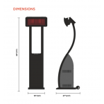 Bromic Portable Gas Heater Dimensions