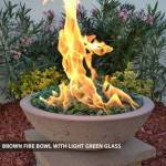 Concrete Fire Bowl Brown w/ Green