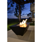"60"" Burbank Fire Table - Dark Walnut Finish Side View"