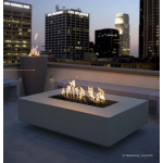 "56"" x 38"" Cabo Concrete Fire Table - Grey Lifestyle"