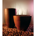 Lixe Tall Planter and Luxe Round Planter - Beechwood