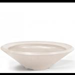 """Pebble Tec 33"""" Concrete Cone Fire Bowl - Honed Carrara"""