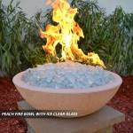 Concrete Fire Bowl Peach w/ Ice Clear