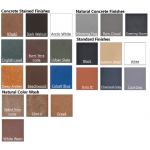 GFRC Concrete Colors/Finishes Available