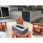 "48"" Coronado Wood Grain Concrete Fire Pit Table - Ebony"