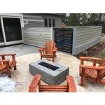 "48"" Coronado Wood Grain Concrete Fire Pit Table - Ebony"