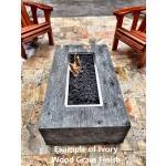 Example of Ebony Wood Grain Fire Pit Table Finish
