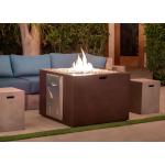 "34"" x 34"" GFRC Concrete Fire Cube Lifestyle - Beechwood"