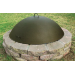 Fire Pit Dome Cover on Fire Pit