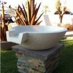 """21"""" Concrete Pool Fire Bowl - White"""