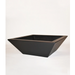 "42"" Kona Modern Square Planter - Dark Walnut"