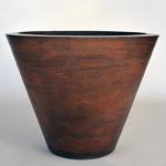 "24"" Geo Planter Bowl - Burnt Terra Cotta"