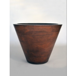 "36"" Geo Planter Bowl - Burnt Terra Cotta"