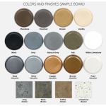 NEW! Actual GFRC Concrete Bowl Color Samples
