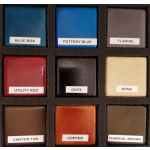 Actual GFRC Stained and Sealed Color Samples