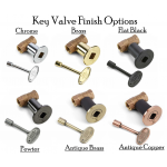 Key Valve Color Options