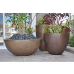 Different Style of Luxe Planter Bowls - Burnt Terra Cotta